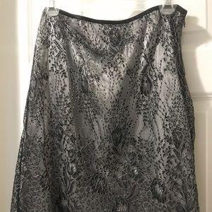 Ann Taylor petites grey pencil skirt